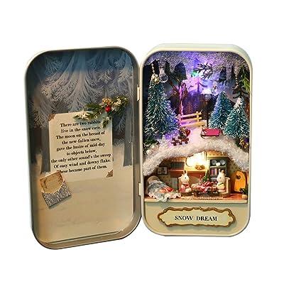 Divertido Puzzle Box de Madera Teatro DIY Miniatura Dollhouse Modelo Decoración Del Hogar Niños Juguete de Regalo: Bebé