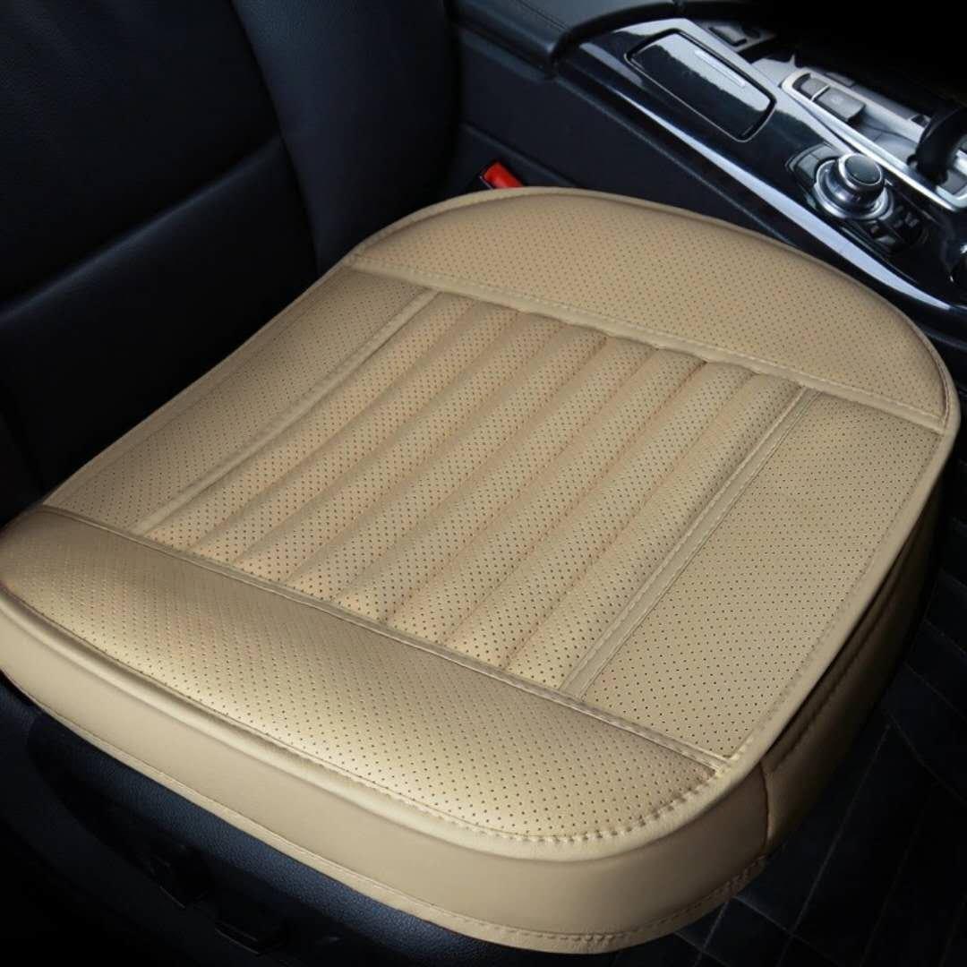 Richion 1PC PU Leather Seat Cushion Cover, Breathable Protection Chair Cushion Mat PadCar Seat Cushion, Breathable Car Interior Seat Cushion Cover Pad Mat for Auto Car Supplies(Black)