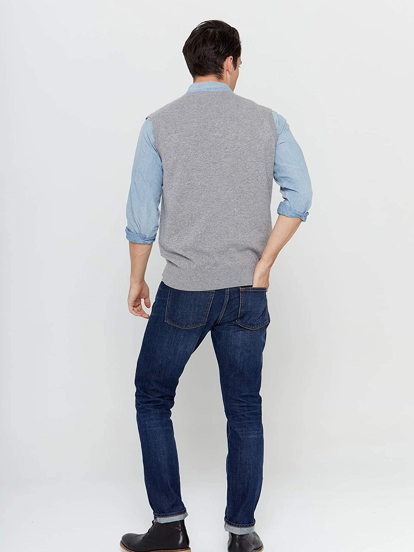 State Cashmere Mens 100/% Pure Cashmere Jumper Regular Fit Pullover Casual Sweater Vest