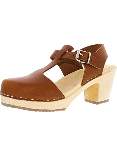 8f08420a89b07 Lotta From Stockholm Women's Highwood T-Bar Ankle-High Leather Clogs