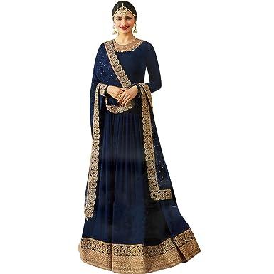 e0452f44bf Amazon.com: Ladyline Wedding Anarkali Suit Salwar Kameez Indian Womens Dress  Partywear Bollywood Pakistani Ready to Wear: Clothing