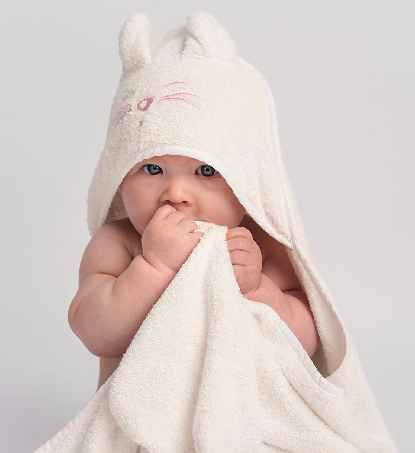 Tiny Chipmunk Bamboo Hooded Baby Towel with Ears - Extra Large - Premium Quality - Extra Soft, Thick and Absorbent for Newborn, Baby, Toddler and Kids Up to 4 Years - Perfect for Swimming