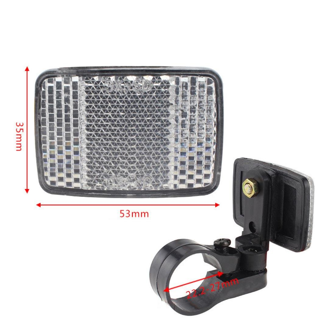 Exteren Bicycle Handlebar Mount Safe Reflector Bicycle Bike Front Rear Warning Red/White New (White)