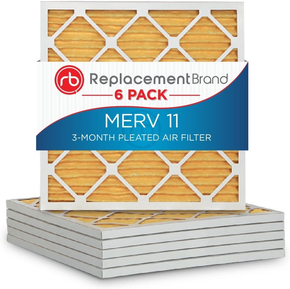 6 Pack ReplacementBrand 14x14x1 MERV 11 Air Filter//Furnace Filter