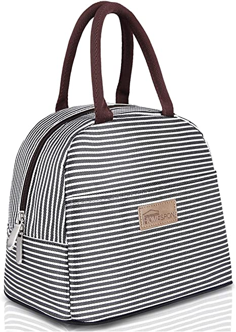 HOMESPON Lunch Bag Insulated Tote Bag Lunch Box Resuable Cooler Bag Lunch Container Waterproof Lunch Holder for Women//Men