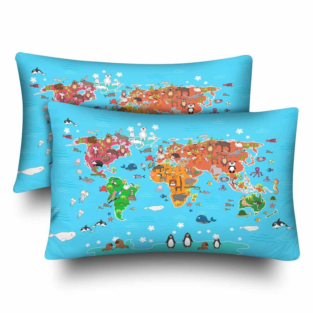 InterestPrint - Juego de 2 fundas de almohada rectangulares ...