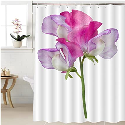 Amazon gzhihine shower curtain a single pink and purple sweet gzhihine shower curtain a single pink and purple sweet pea flower lathyrus odoratus with three florets mightylinksfo