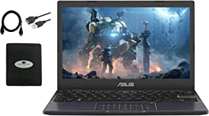 2021 Newest Asus 11''6 HD Small Ultra Thin Laptop Student Google Classroom, IntelCeleron N4020 (up to 2.8GHz), 4GB 64GB eMMC, 180°Lay-Flat Hinge, HDMI, Webcam, WiFi, Windows 10 S, w/GM Accessories