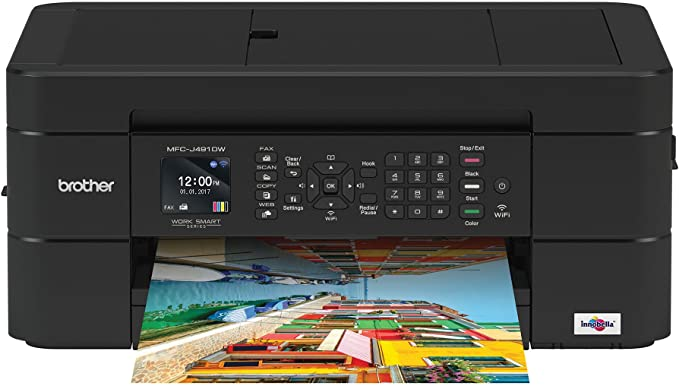 Brother Wireless All-in-One Inkjet Printer, MFC-J491DW, Multi-Function Color Printer, Duplex Printing, Mobile Printing,Amazon Dash Replenishment ...