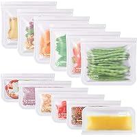 Kollea Bolsas de Silicona Reutilizables 12 Pack, Bolsas de conservación, Bolsas de Silicona Preservación de Alimento…