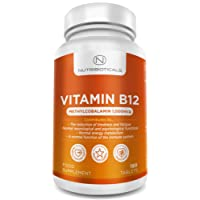 """Vitamin B12 Methylcobalamin 1000mcg 180 Tablets (6 Month Supply) by Nutribioticals 