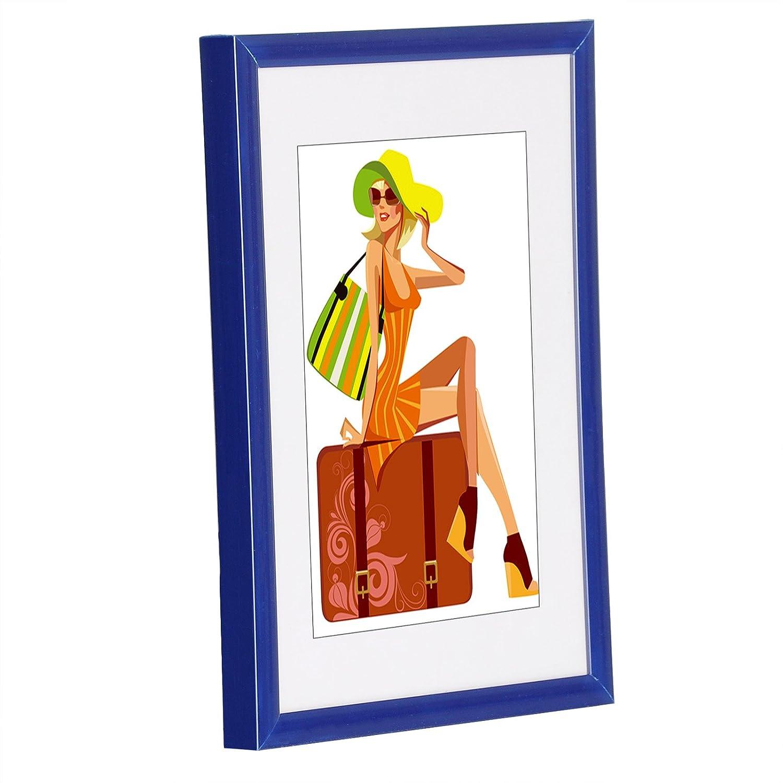 WOLTU 1 X Cadre Photo 10x15cm en Verre et Plastique, New Life Style Rouge BR9857rt