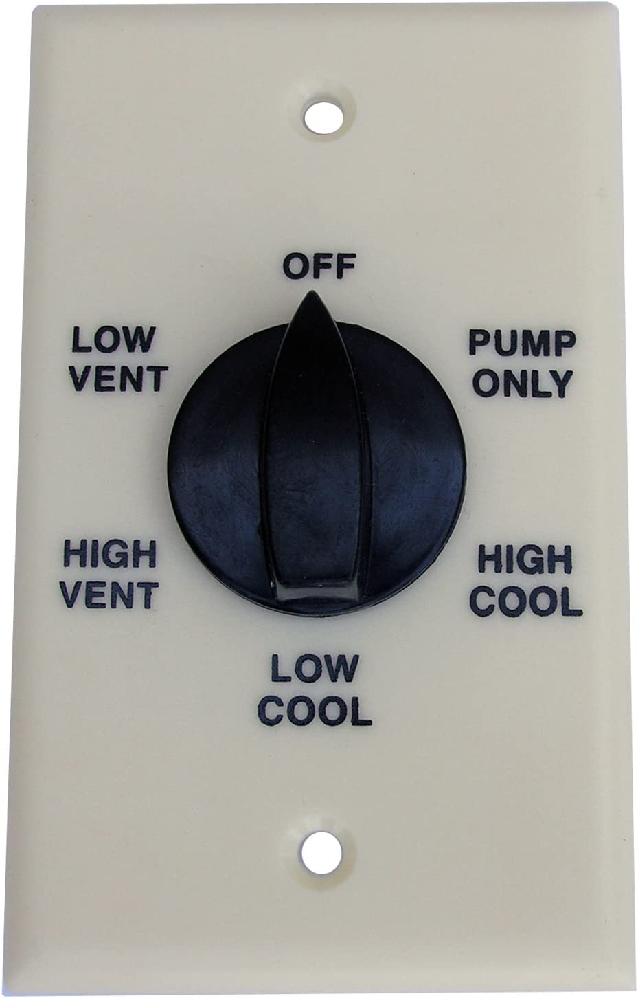 LASCO 36-0233 Evaporative Water Cooler Thermostat with Two Speed Six Position Switch