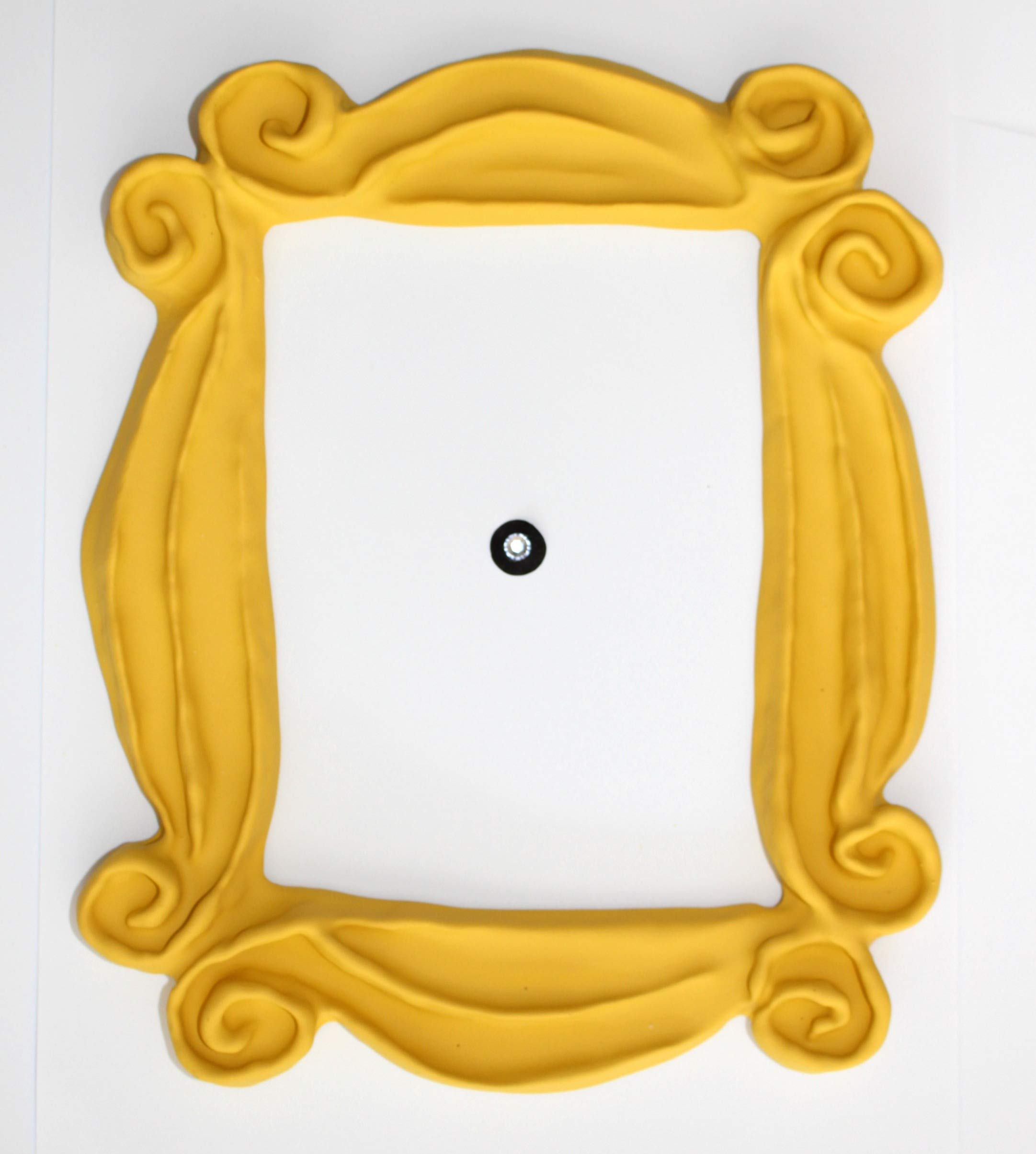 Handmade with Love by Fatima Peephole Yellow Frame. Replica of The Frame seen in Monica's Door. It has Two Side Tape. Ready to Hang. by Handmade with Love by Fatima