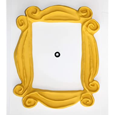Handmade with Love by Fatima Peephole Yellow Frame. Replica of The Frame seen in Monica's Door. It has Two Side Tape. Ready to Hang.