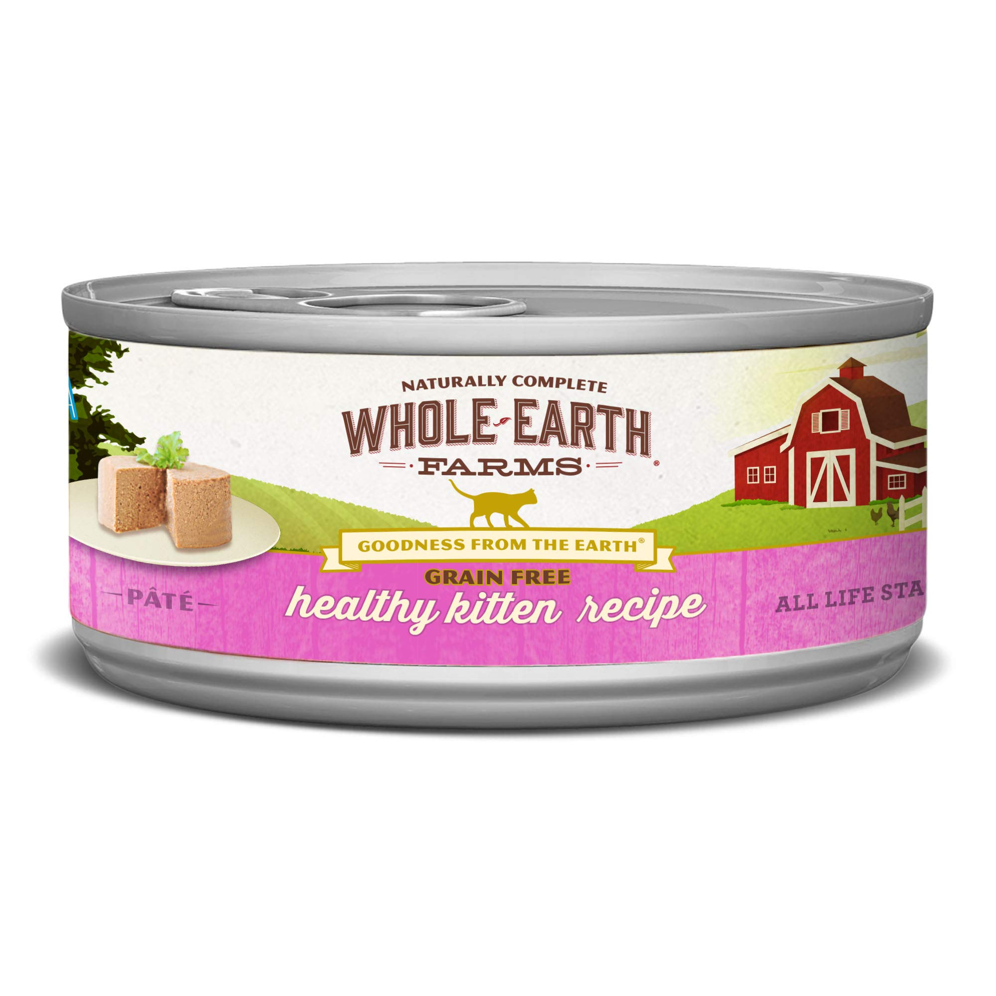 Whole Earth Farms 24 Case Grain Free Real Healthy Kitten Recipe, 2.75 Oz by Whole Earth Farms