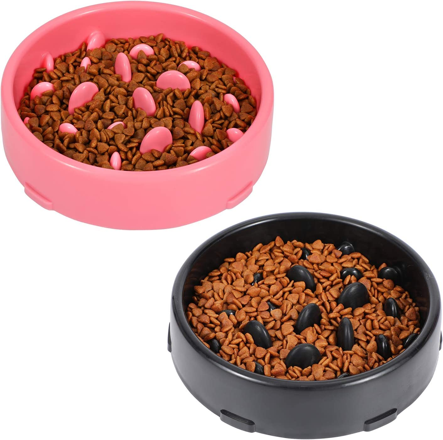 LEACOOLKEY Dog Bowl Slow Eating Feeder, No Chocking Anti-Gulp Slower Bowl, Stop Bloat for Dogs, Reduce Slip Puzzle Bowl for Small Puppy Medium Dogs, Eco-Friendly Non-Toxic Maze Bowl for Fast Eater