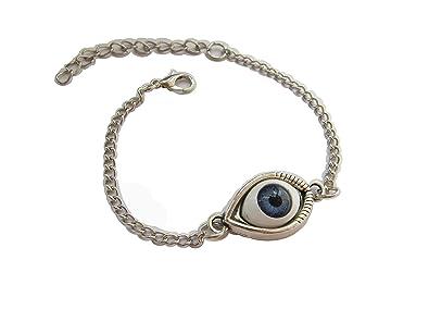 Antiguo plata ojo protección ocular tobillera, tobillera ...