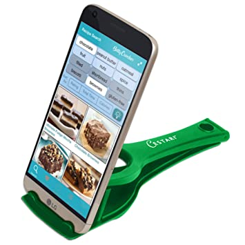 Recipe Holder Stand for Smartphones and Tablets, Keep Your Phone, Kindle,  or iPad Convenient While Cooking - Original Kitchen Gadget Phone and Tablet  ...