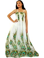 MayriDress Women Peacock Maxi Dress Plus Size Clothing Beach White Wedding Guest