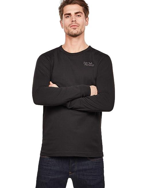G-STAR RAW Graphic 1 T-Shirt Camisa Manga Larga para Hombre ...