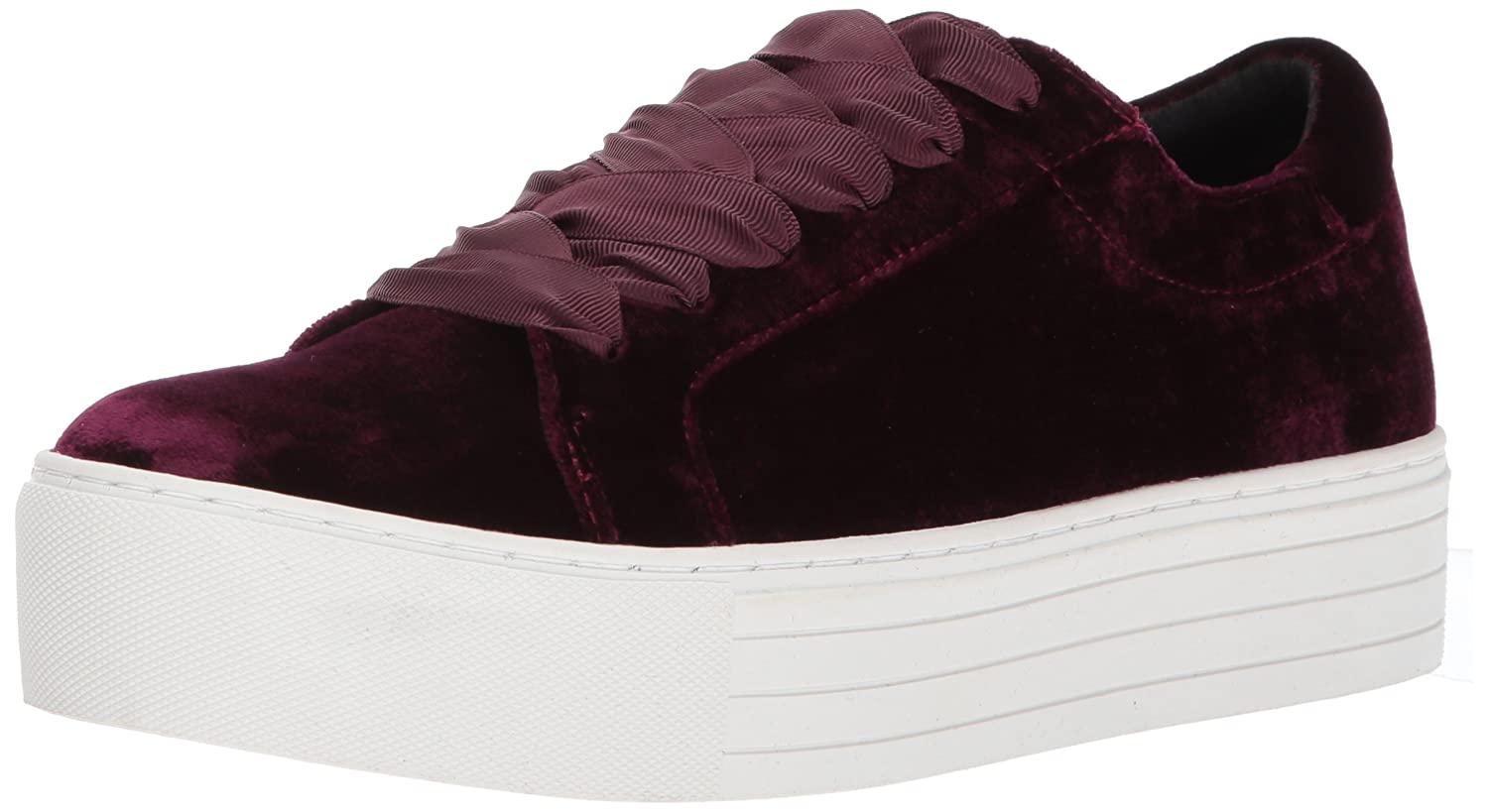 Kenneth Cole New York Women's Abbey Platform Lace up Velvet Fashion Sneaker B071XNSZ8K 7 B(M) US|Wine