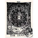 SCSpecial Tapiz de pared de 78,7 x 59 pulgadas, tapiz de astrología para colgar en la pared, tapiz de tarot para…