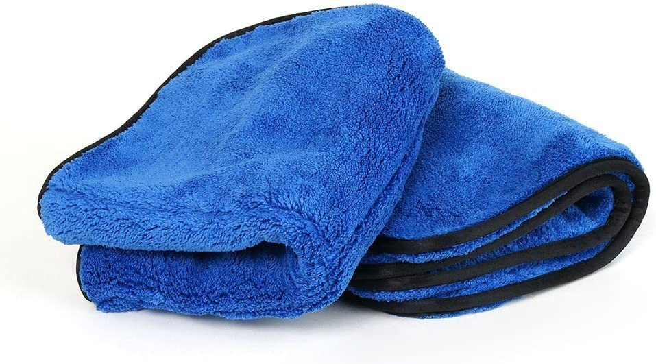 3 Pack 1100 GSM Big Blue Premium Microfiber Drying Towel 16 x 16 Ultra Thick Plush Towel