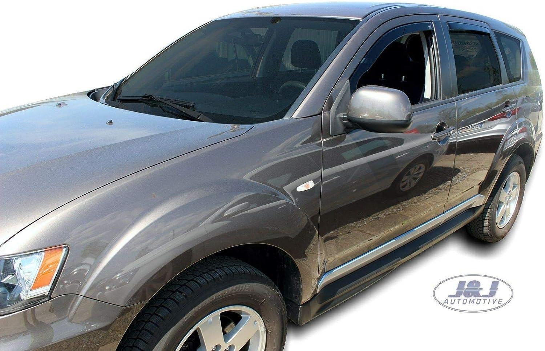 J/&J AUTOMOTIVE Windabweiser Regenabweiser f/ür Mitsubishi Outlander II 5-t/ürer 2006-2012 4tlg HEKO dunkel