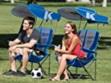 Kelsyus Premium Portable Camping Folding Lawn Chair with Canopy, Blue