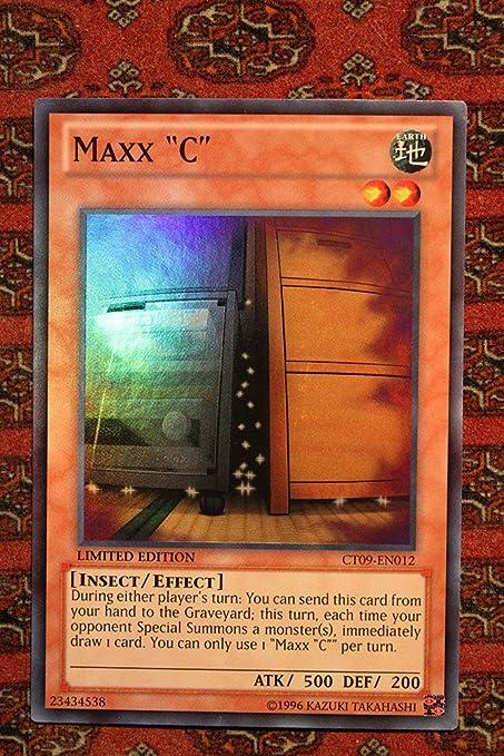"""Super Rare CT09-EN012 1x Yu-Gi-Oh LP 1st Edition Maxx /""""C/"""""""