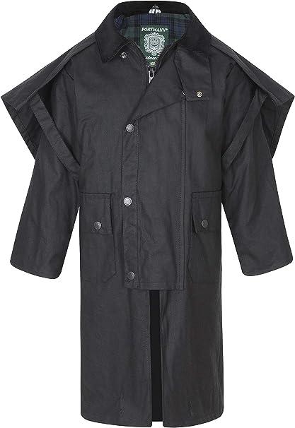 Portmann Childrens Kids Padded Wax Cotton Jacket Coat /& Hood Sizes 3 to 16 Years