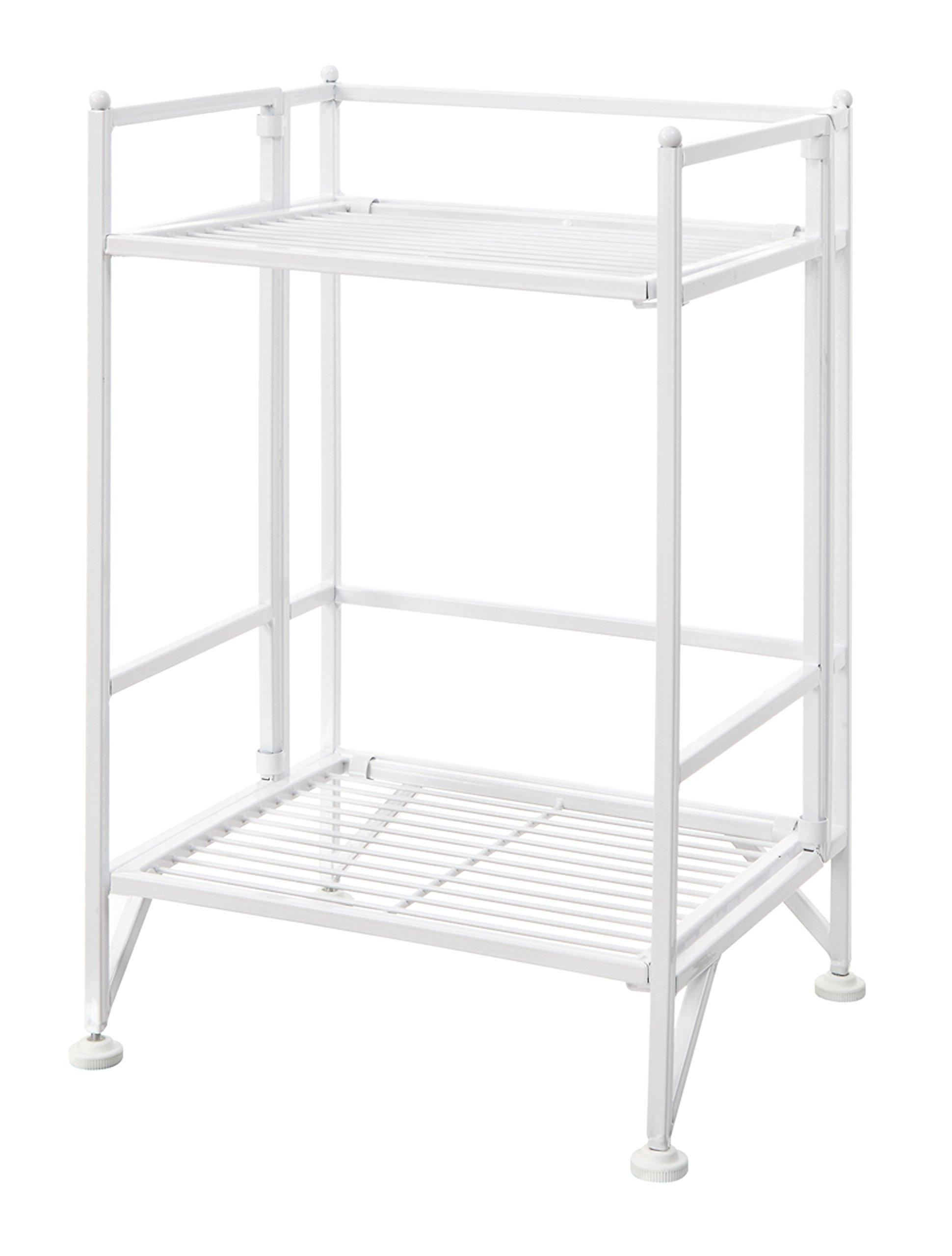 Convenience Concepts Designs2Go X-Tra Storage 2-Tier Folding Metal Shelf, White by Convenience Concepts