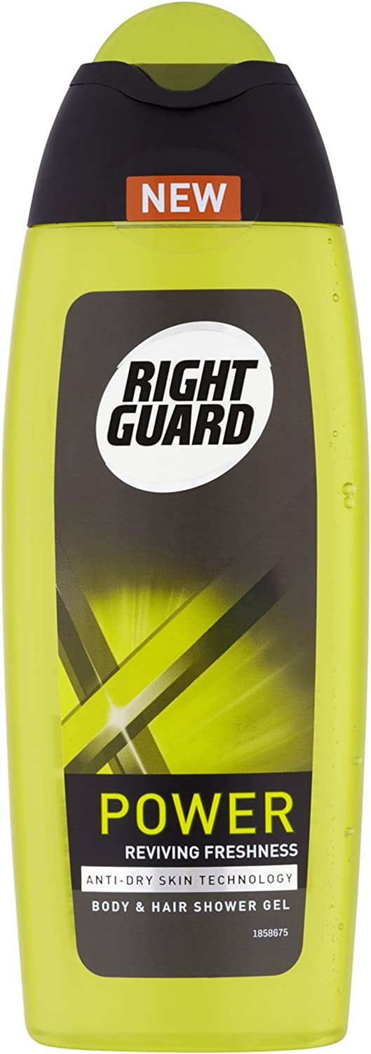 Right Guard Xtreme Power Shower Gel 250 ml - Pack of 6