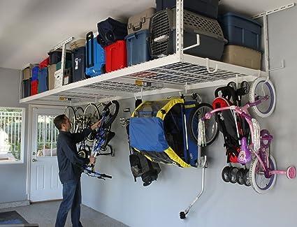 Garage Storage Organizer Racks Ceiling Overhead Drop Basement Heavy Duty  Home Kit Accessories Hardware Steel Industrial
