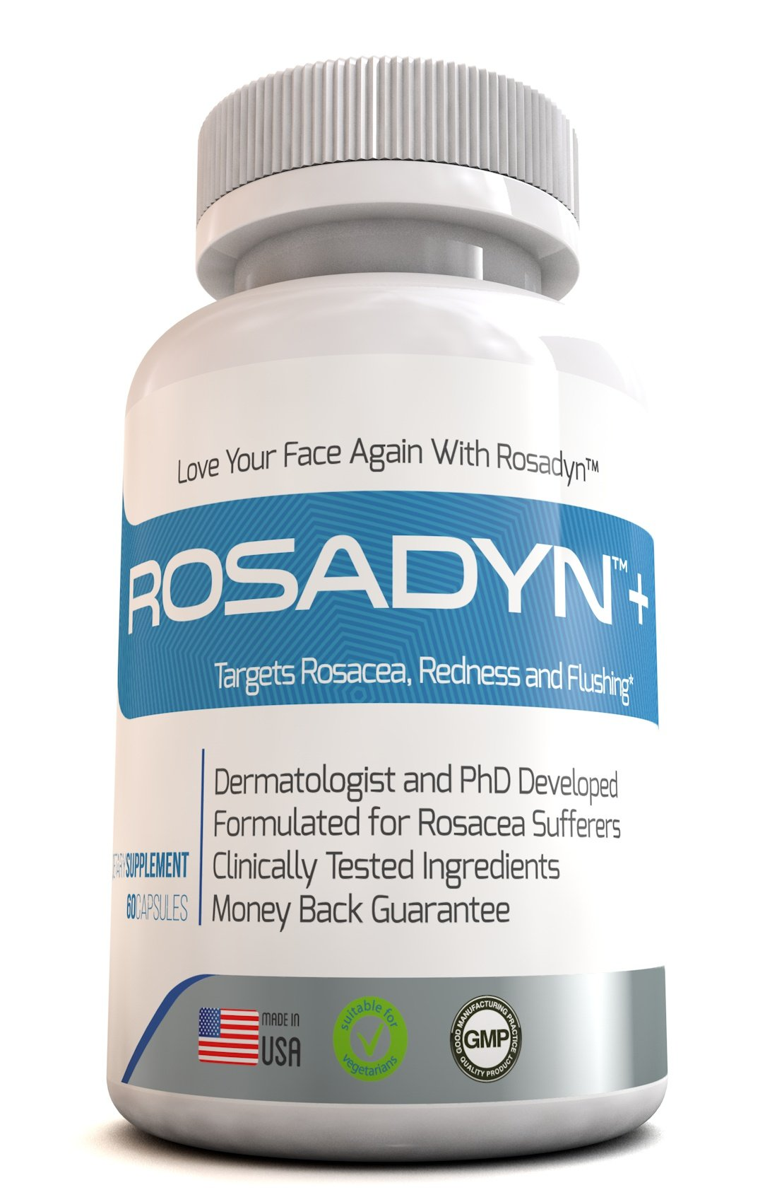 Rosacea Treatment 6 Pack by Rosadyn | Relief for Face & Nose Redness, Acne and Red Eyes | Works Internally Unlike a Cleanser Wash, Moisturizer, Cream or Other Skin Care Products | Natural | 360 Caps by Rosadyn+