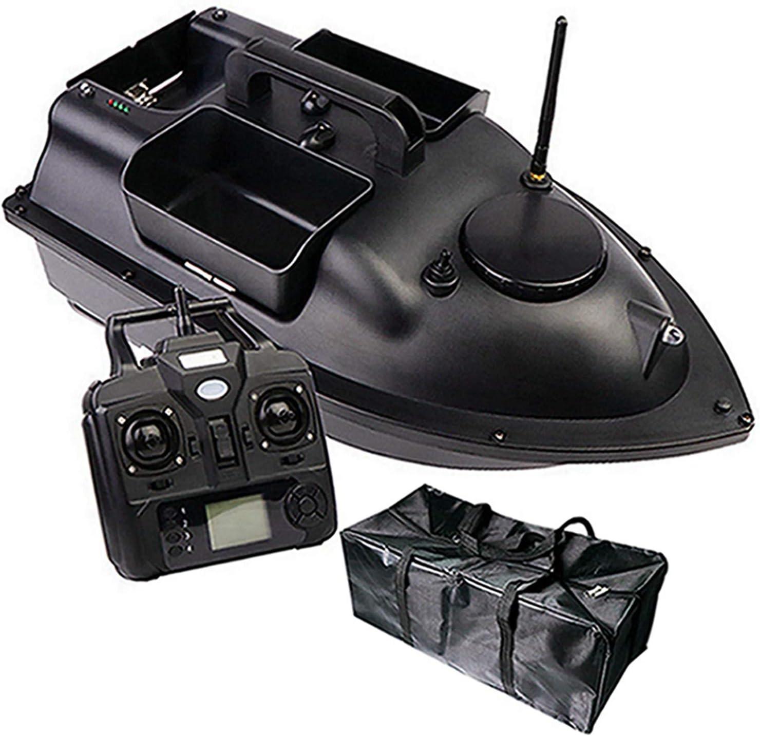DINGYU RC Pesca Bait Boat GPS Posicionamiento Automático Devolución Dual-Motor Control Remoto De 500 Metros Pesca Barco De Control Remoto,12000Mah