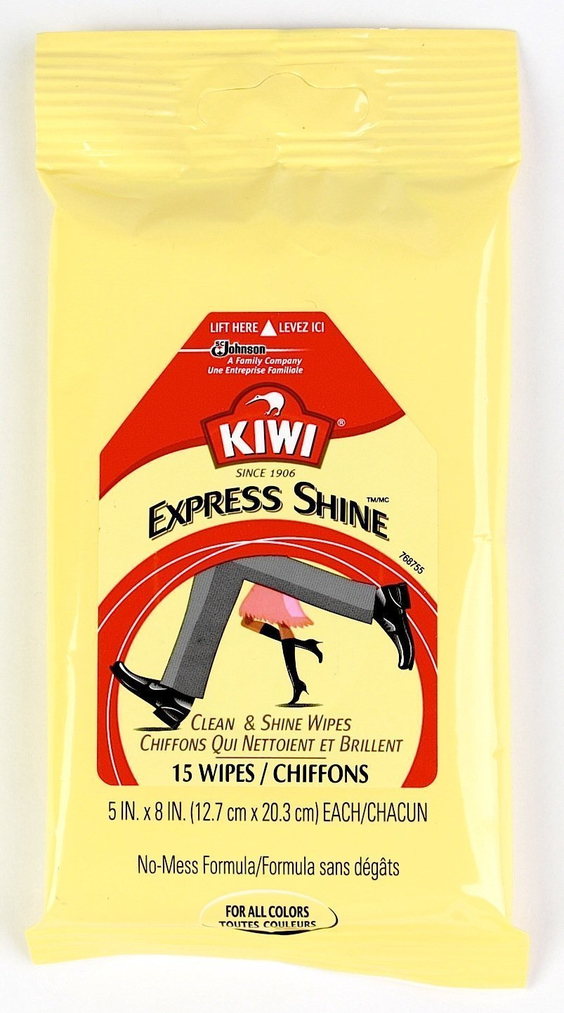 Kiwi Express Clean and Shine Wipes, 15 Wipes, 3 Pack.
