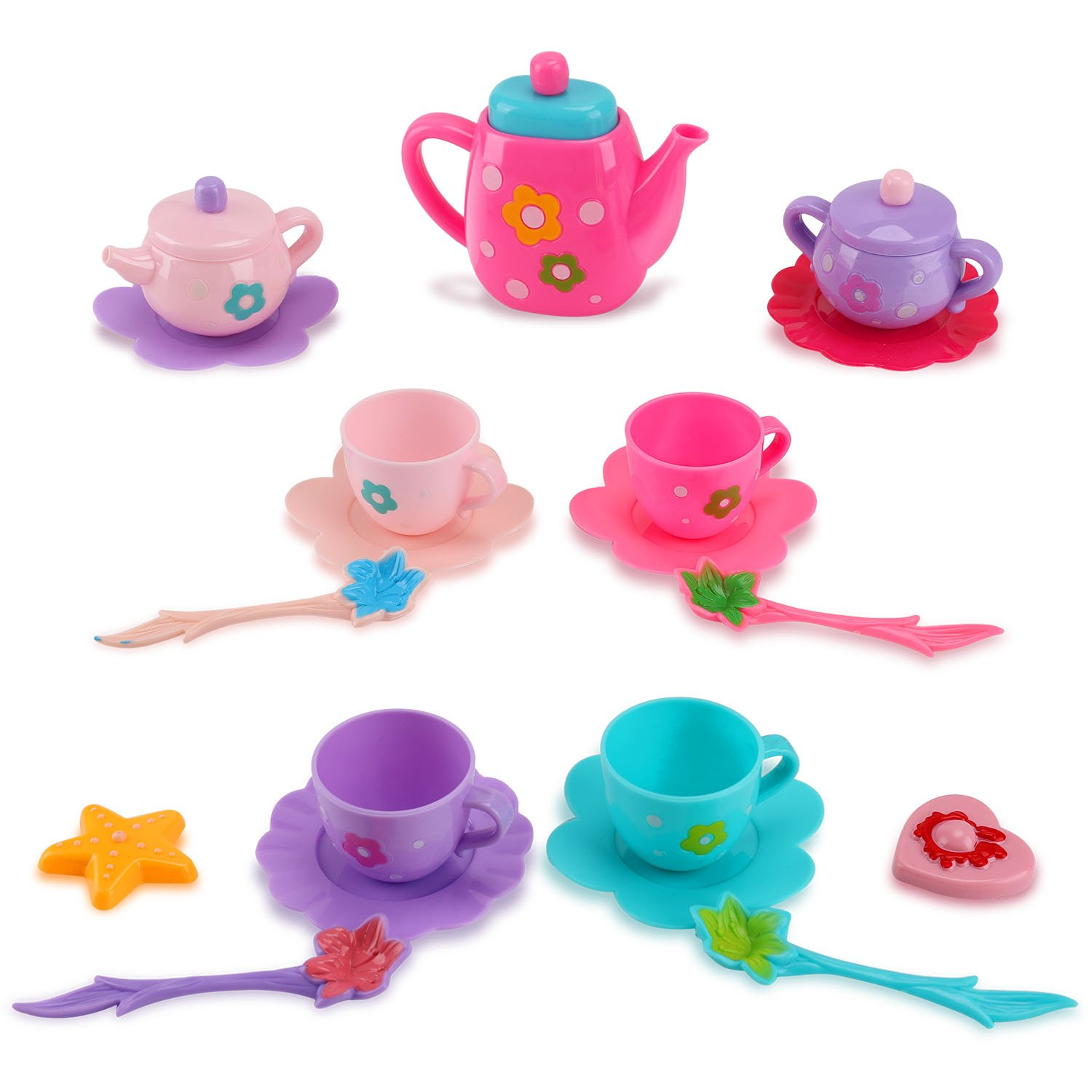 Liberty Imports Princess Royal Tea Set Pretend Playset - Kids Tea Party Play Food Accessories Kitchen Toy Teapot Gift Set for Girls (21-Piece) by Liberty Imports