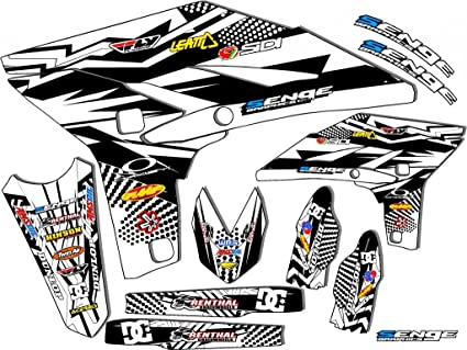 Fly Racing White Complete kit 2008-2019 TTR 110 Compatible with Yamaha Senge Graphics