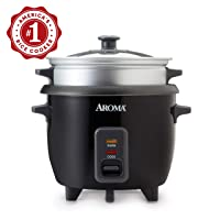 Aroma Housewares ARC-363-1NGB 2-6 cups Cooked Rice cooker, Steamer, Multicooker,...