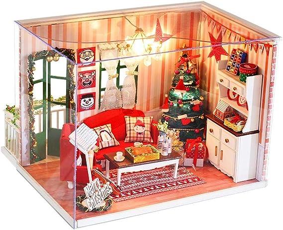 WANNA.ME - Mueble de Madera para casa en Miniatura, LED ...