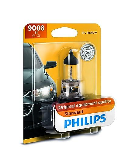 Amazon Philips 9008B1 9008 H13 Standard Halogen Replacement Headlight Bulb 1 Pack Automotive