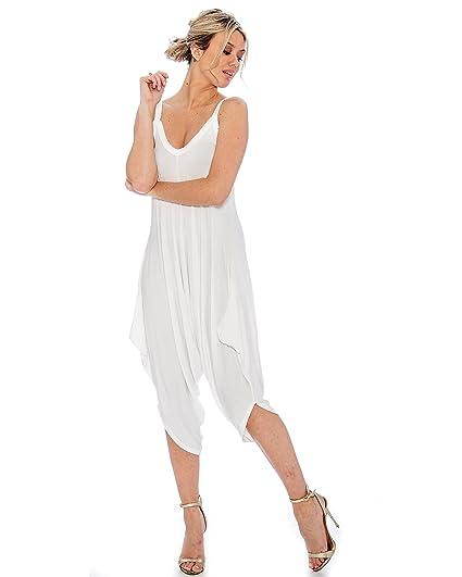 839648ff73b 9 Crowns Women s TR Harem Pant Capri Jumper Romper at Amazon Women s  Clothing store