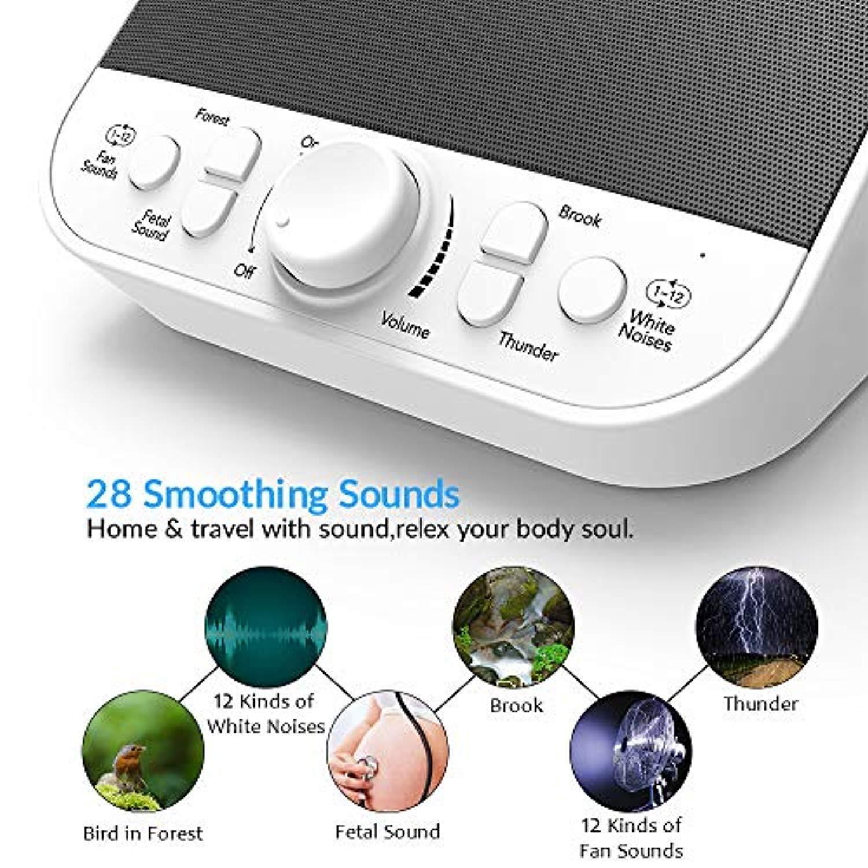 Amazon.com: Latow Máquina de ruido de color blanco, máquina ...