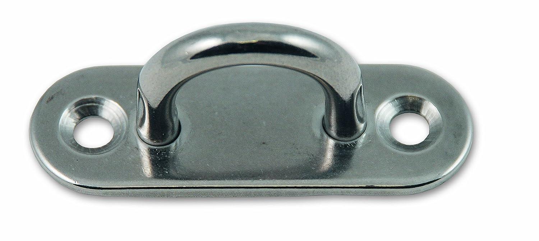 Chapuis PLAI1 Lote de 2 pletinas con ojal - Acero inoxidable - Distancia entre ejes 12 mm - Pletina 45 x 15 mm: Amazon.es: Industria, empresas y ciencia