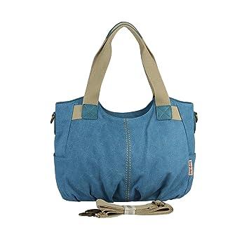 8f55e9b2c2c1c Damentaschen Bag Street Canvas Damen Handtasche Shopper Schultertasche  Tasche Umhängetasche
