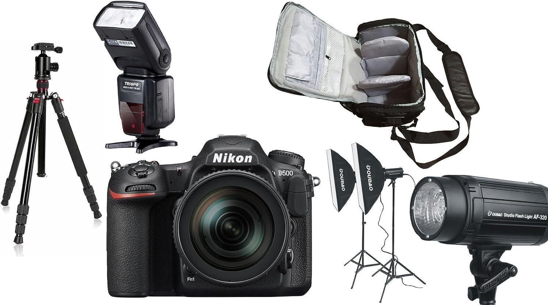 D500 DSLR Cámara + AF-S DX 16-80mm f/2.8-4E ED VR Lente + KamKorda ...