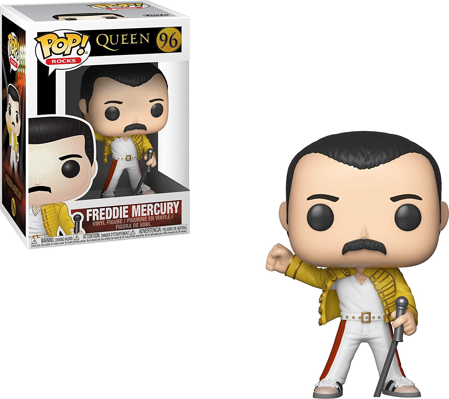 Funko- Pop Vinyl: Rocks: Queen: Freddie Mercury (Wembley 1986) Figura Coleccionable, Multicolor, Talla única (33732)