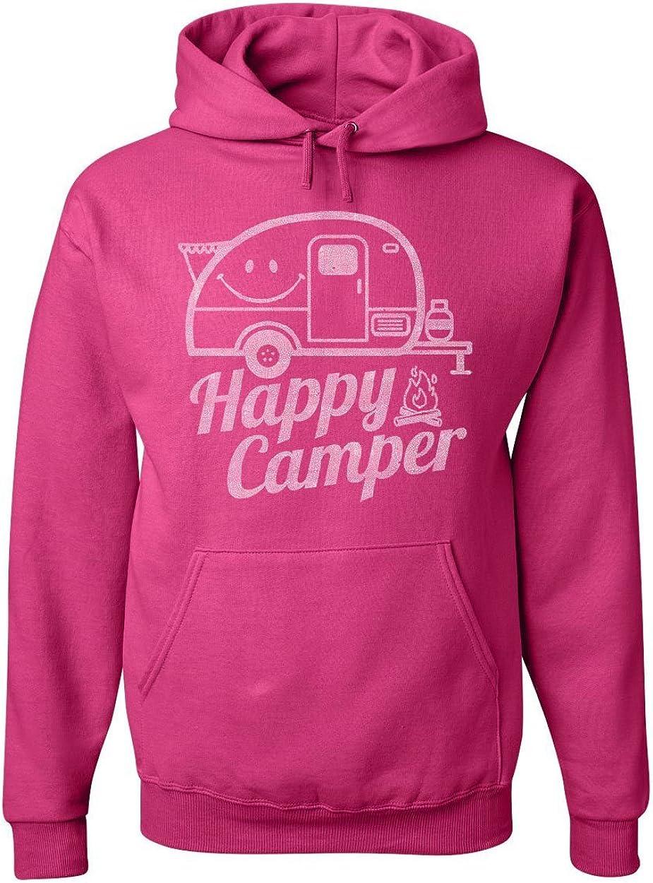 Happy Camper Hoodie RV Tourism Camping Summer Nature Travel Sweatshirt